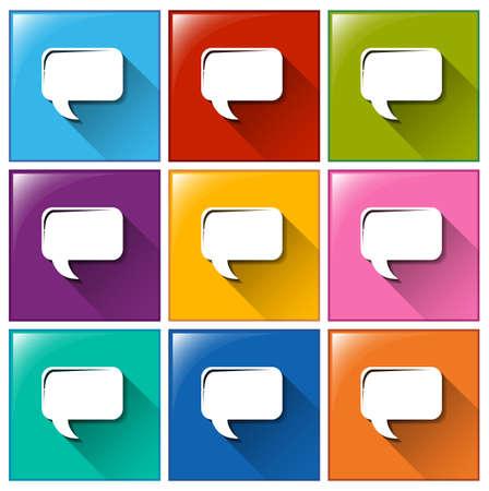 quotation: Illustration of icons with quotation symbol Illustration