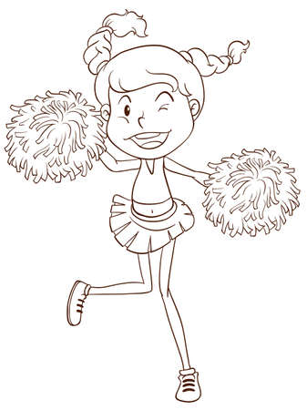 cheer up: Illustration of a close up cheerleader
