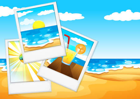 wavelengths: Illustration of the photos at the beach