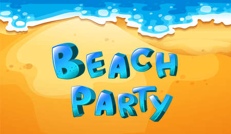 outdoor party: Illustration of a background of beach party
