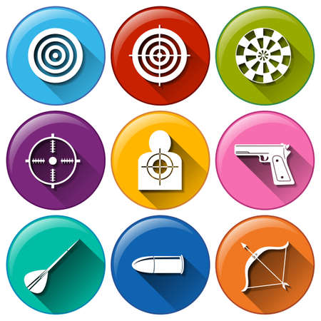 Illustration of a set of target icons Vector