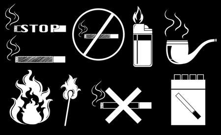 Illustration of non-smoking signs Vector