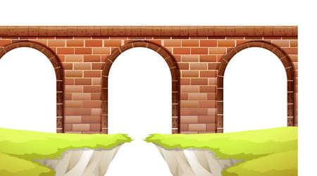 arcos de piedra: Ilustración de un primer plano puente de arco
