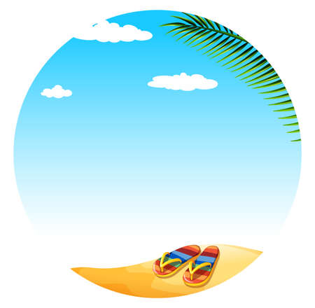 sandal tree: Illustration of a summer holiday
