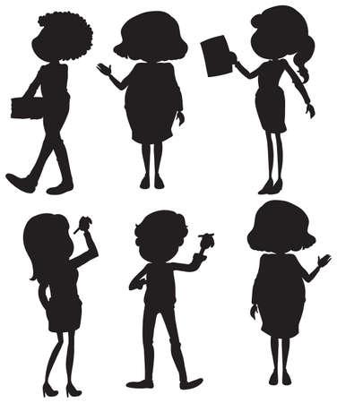 silhouete: Illustration of a set of silhouete businessmen