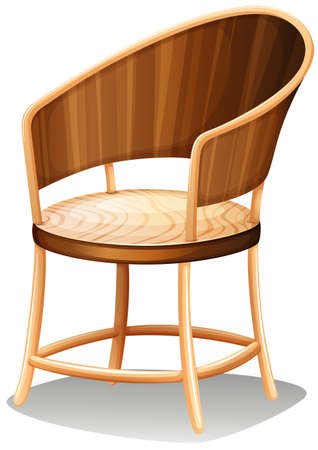 armrests: Illustration of a smooth brown furniture on a white background