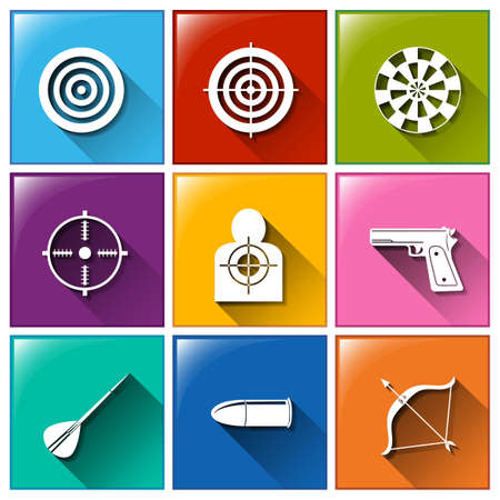 dart series: Illustration of different color target icons