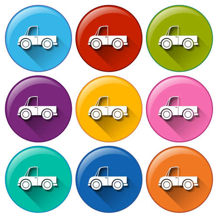 illustration of different color truck icons Vector