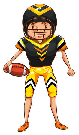 contestant: Illustration of an American football player on a white background Illustration