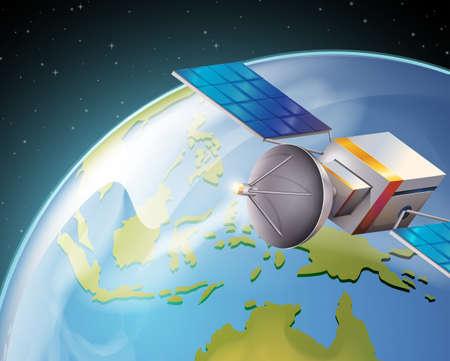 intentionally: Illusration of a satelitte Illustration