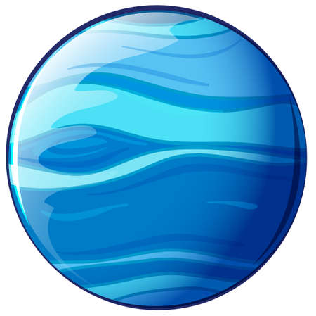 globular: Illustration of a blue planet on a white background