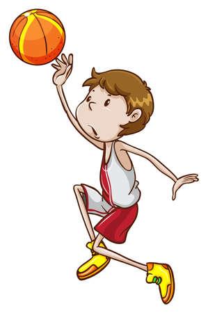 Illustration of a man playing basketball Vector