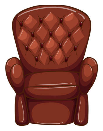 armrests: Illustration of a simple coloured drawing of a brown furniture on a white background Illustration