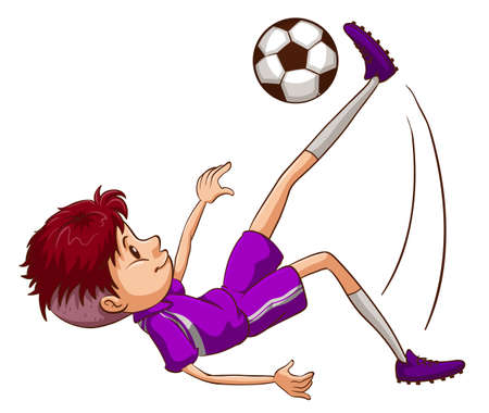 energetic: Illustration of an energetic soccer player on a white background