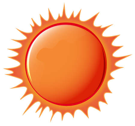 Illustration of the sun on a white background Vector