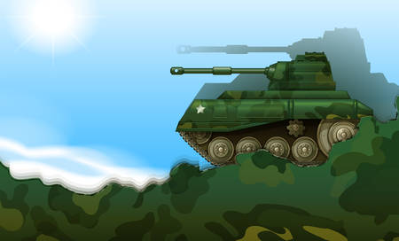 frontline: Illustration of a fighting tank
