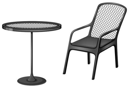 Illustration of the grey furnitures on a white background
