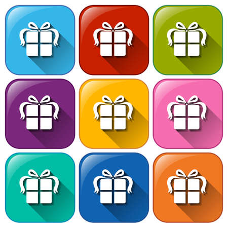 occassion: Illustration of the gift buttons on a white background