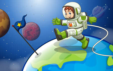 Illustration of an astronaunt in the space Vector