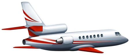 Illustration of a close up airplane