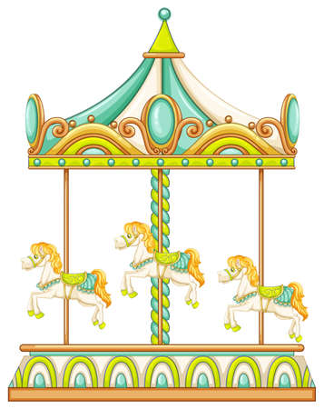 Illustration of a close up merry go round