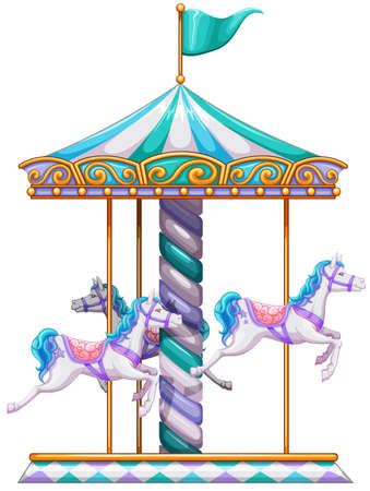 Illustration of a close up merry go round Vector