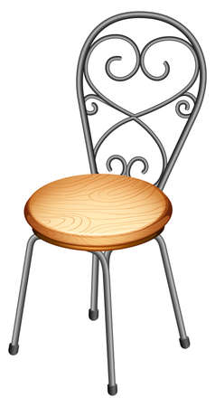 metal legs: Illustration of a chair on a white background