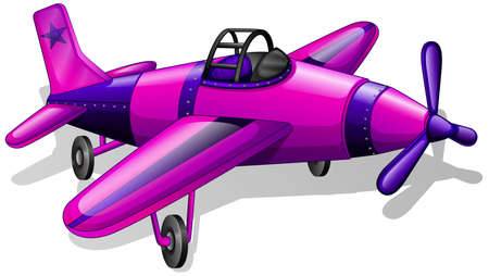 supersonic plane: Illustration of a lavender vintage plane on a white background