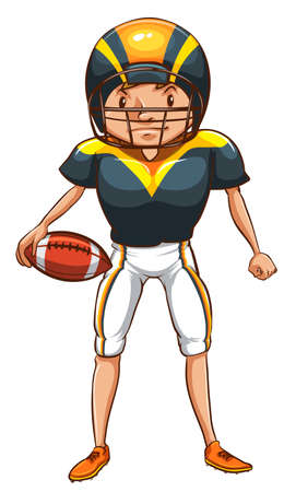 contingent: Illustration of a simple sketch of an American football player on a white background