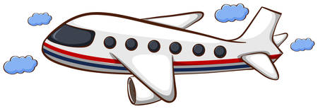 jets: Illustration of a sketch of a plain travelling on a white background