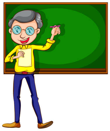 pedagogy: Illustration of a sketch of a male teacher on a white background