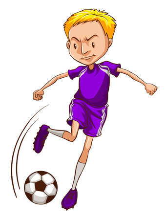 contestant: Illustration of a male soccer player on a white background