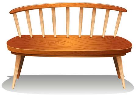 ergonomie: Illustration von einem h�lzernen Stuhl M�bel auf einem wei�en Hintergrund Illustration