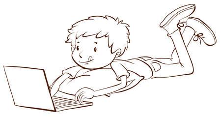 Ilustración De Un Dibujo Coloreado De Un Niño Con Un