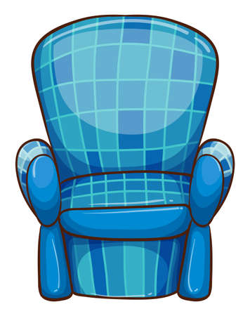 armrests: Illustration of a blue chair on a white background