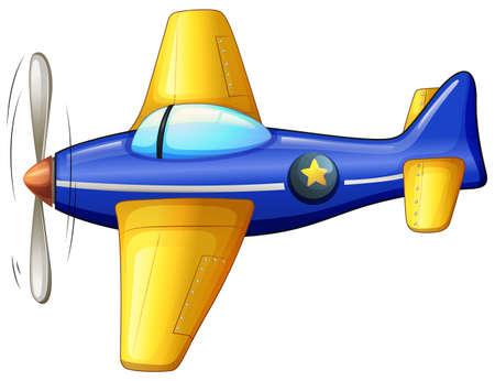 jetplane: Illustration of a vintage turbojet on a white background