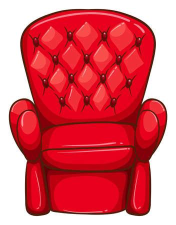 ergonomie: Darstellung eines einfachen Zeichnung eines roten Stuhl auf einem wei�en Hintergrund