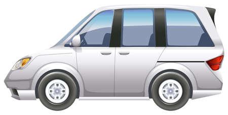 minivan: Illustration of a minivan on a white background