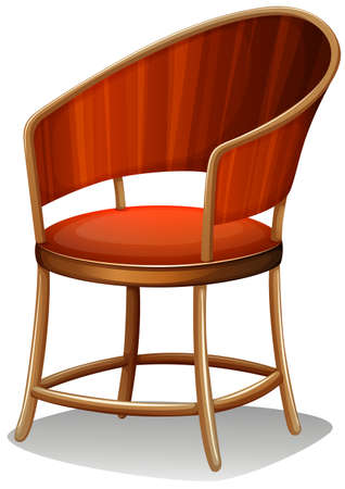 ergonomics: Illustration of a brown chair furniture on a white background