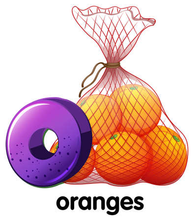 oranges: Illustration of a letter O for oranges on a white background