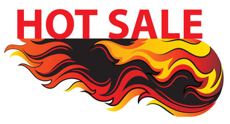 discounted: Illustration of a big hot sale on a white background