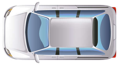 minivan: Illustration of a topview of a minivan on a white background Illustration