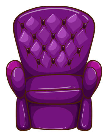 Illustration of a simple coloured drawing of a chair on a white background Illustration