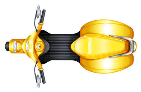 mopeds: Illustration of a yellow scooter on a white background Illustration