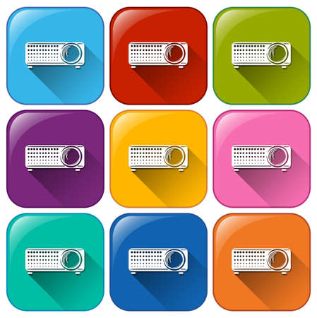 remote controls: Illustration of the icons with remote controls on a white background