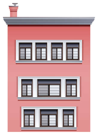 occupancy: Illustration of a tall pink building on a white background Illustration