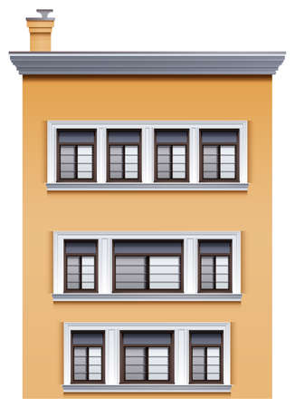 occupancy: Illustration of a tall office building on a white background Illustration