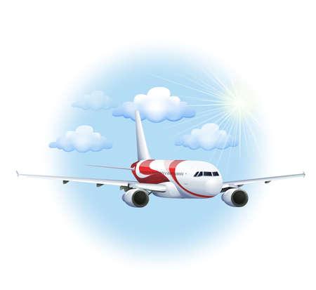 cruising: Illustrazione di un aereo di crociera su uno sfondo bianco Vettoriali