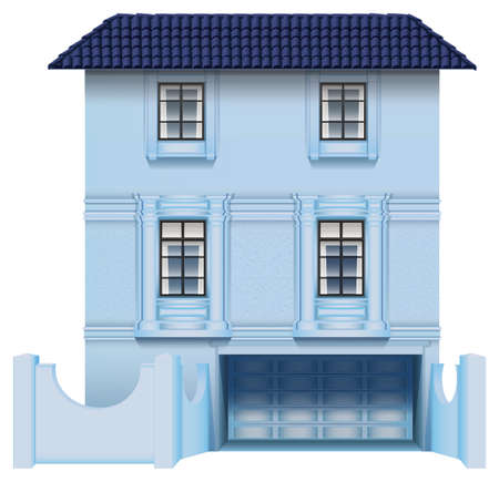 multistory: Illustration of a big multi-story house on a white background
