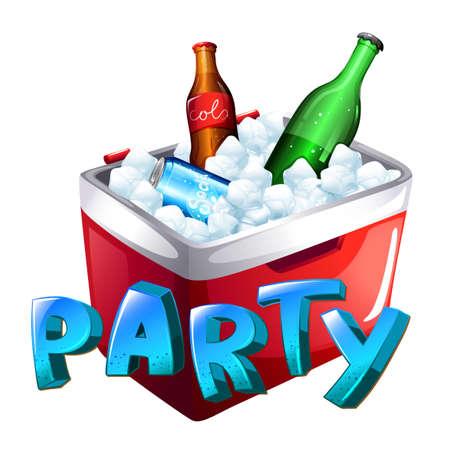 cola canette: Illustration d'une célébration de fête sur un fond blanc Illustration
